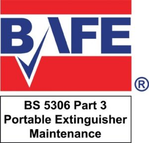 BAFE Logo BS 5306 Part 3 Portable Extinguisher Maintenance 300x288 1 RFC Fire And Security Systems Development Site